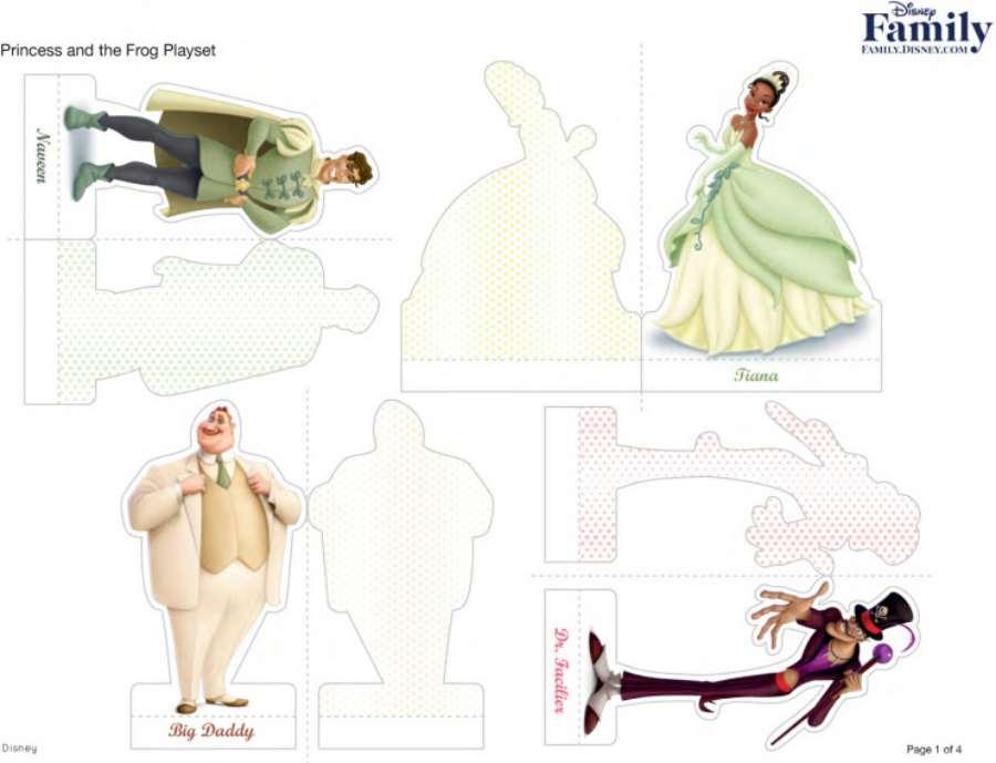 Princesas Disney: recortables de Tiana y el sapo