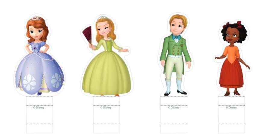 Princesas Disney: los recortables de princesa Sofía