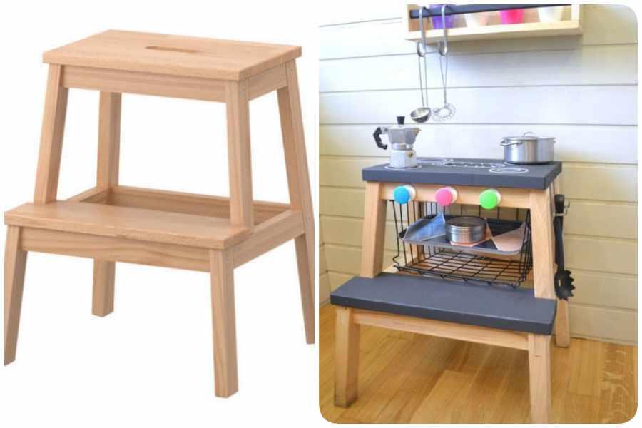Cocinitas de juguete hechas en casa: ikea hacks