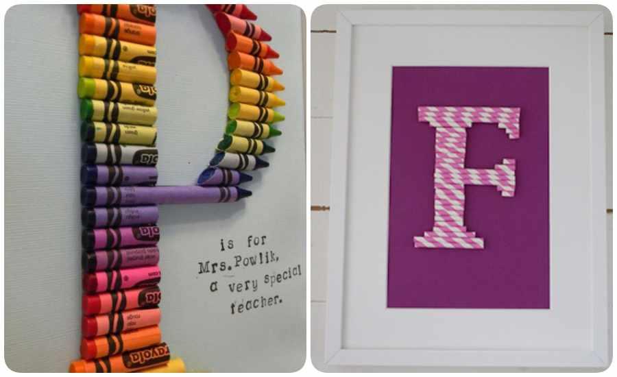 Cuadros infantiles con letras hechos en casa