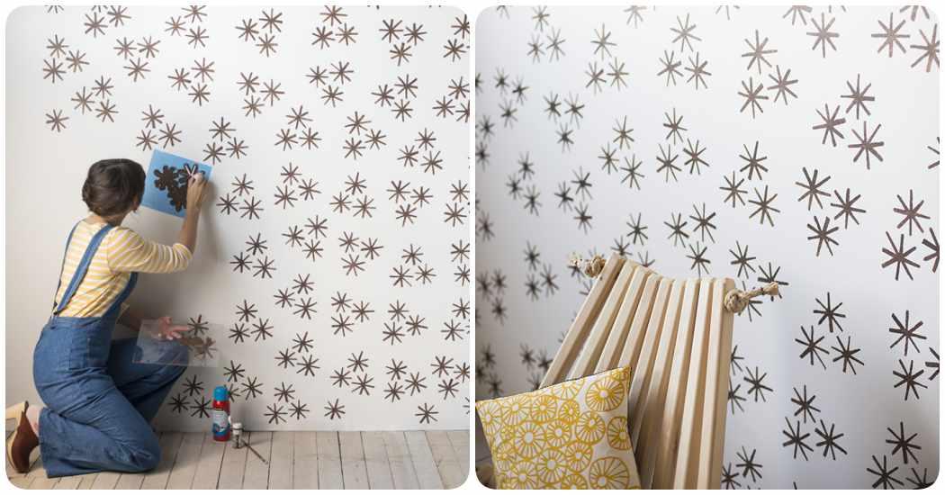 Plantillas para pintar paredes paso a paso