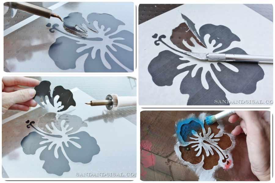 Cómo hacer plantillas para pintar paredes