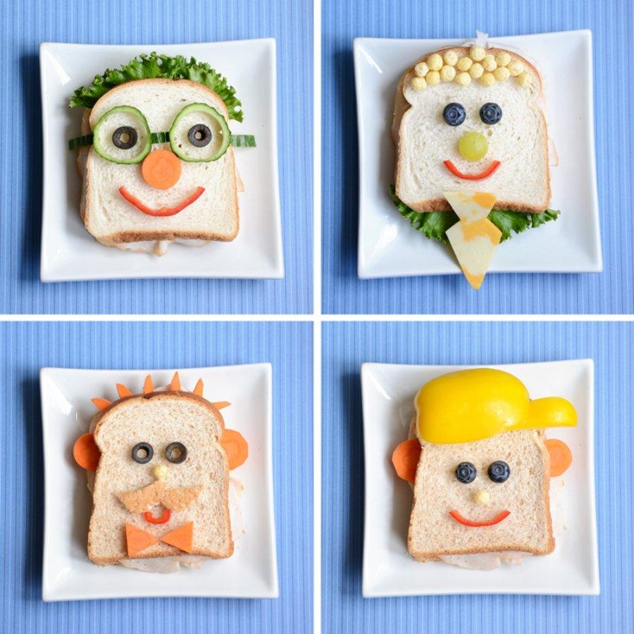 Sándwich original ¡con caras!