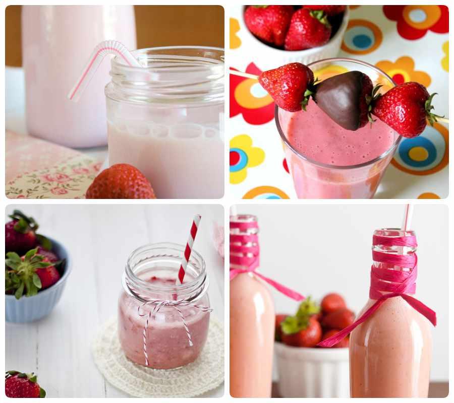 Batidos; cómo hacer batidos de fresas