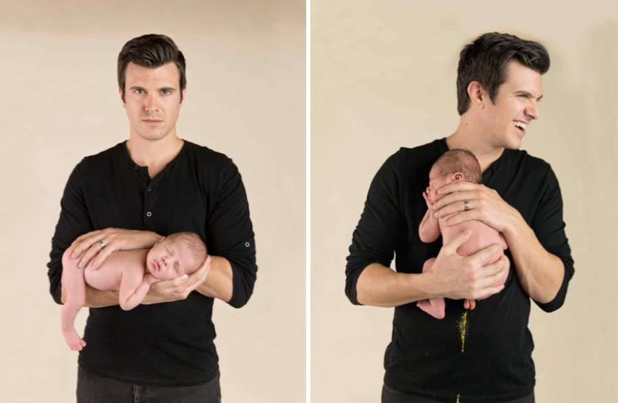 Imágenes chistosas de bebés que arruinan sesiones de fotos