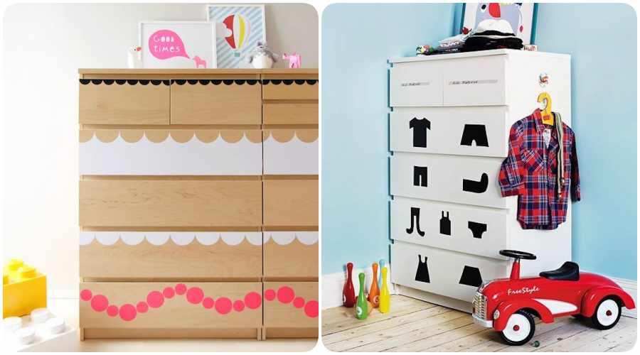 Ikea Hacks de cómodas para la habitación infantil