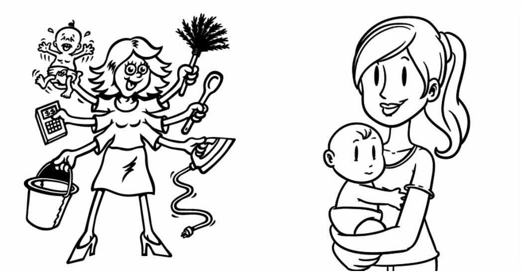 Dibujos para colorear gratis del Día de la Madre
