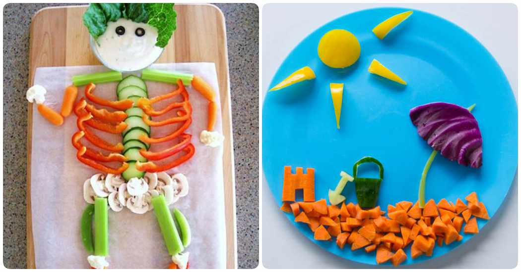 Recetas de ensaladas: ensaladas decoradas