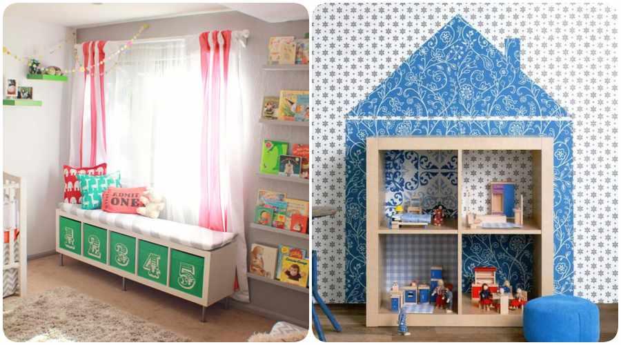 Habitaciones infantiles con Ikea Hacks