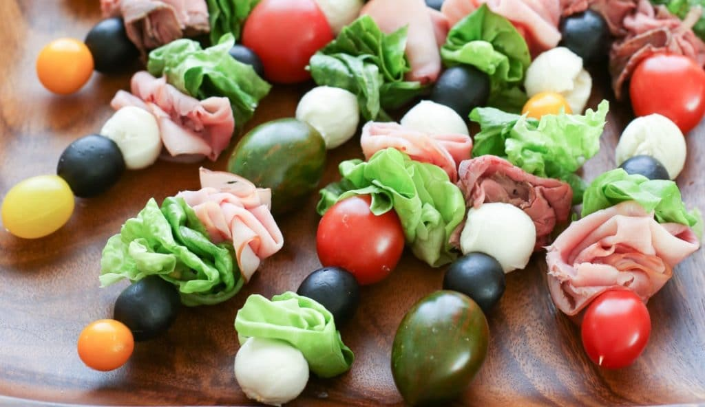 Recetas de ensaladas: ensalada en pincho