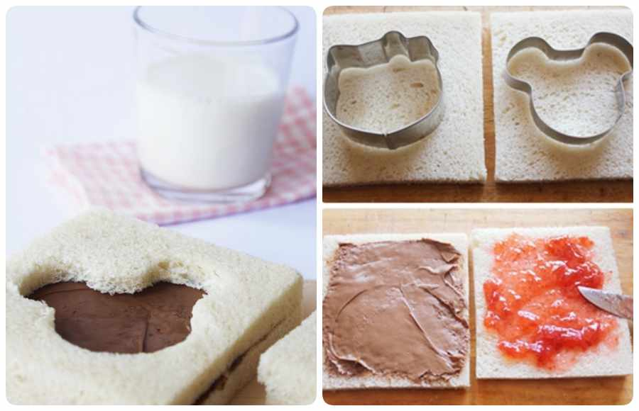 Cómo hacer un sándwich infantil divertido