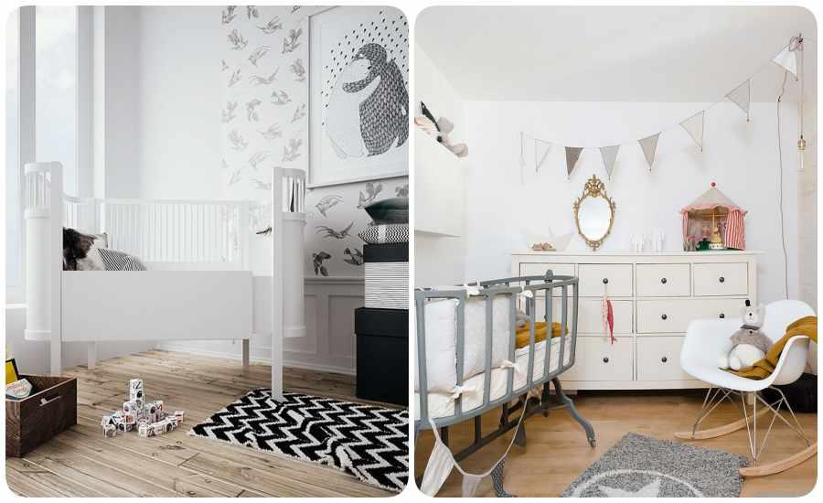 Habitaciones para bebés en tonos pasteles