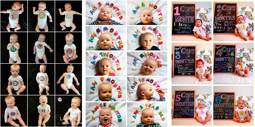 Fotos de bebés mes a mes